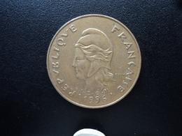 NOUVELLE CALÉDONIE : 100 FRANCS  1996   KM 15   SUP - New Caledonia