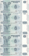 CONGO 100 FRANCS 2007 UNC P 98 ( 5 Billets ) - Non Classés