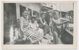 REAL PHOTO, Kid Little Boy Girl And Women On Ship  Garcon Et Femmes, Photo ORIGINAL - Photos