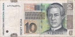 N. 1 Banconota  Da  10  KUNA  Croazia   -  ANNO  2001 - Croazia