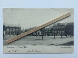 HANNUT «GRAND'PLACE «Panorama,animée (1902)Édit DUBOIS ,HANNUT. - Hannuit
