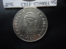 NOUVELLE CALÉDONIE : 50 FRANCS  1983   KM 13     SUP / SUP+ - New Caledonia