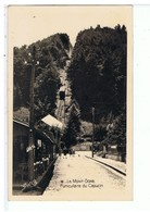 CPA-63-LE MONT-DORE-FUNICULAIRE DU CAPUCIN-ANIMEE-PERSONNAGE ET LE FUNICULAIRE- - Le Mont Dore