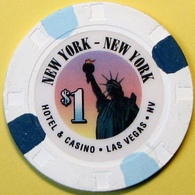 $1 Casino Chip.New York New York, Las Vegas, NV. E05. - Casino