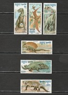 Cambodge - Lot 6 Timbres Animaux Préhistoriques - Stamps