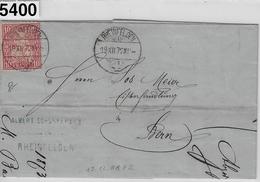 1872 Sitzende Helvetia/Helvétie Assise 38/30 Rheinfelden 19.XII.72 To Bern (Bürsten & Tischdecken Albert Schenker & Cie. - 1862-1881 Sitzende Helvetia (gezähnt)