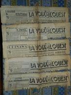 LOT DE 5 JOURNAUX LA VOIX DE L' OUEST RENNES Année 1945 Mai A Septembre - Journaux - Quotidiens