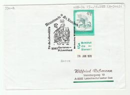 1984 AUSTRIA ST LEONHARD ADVENT MARKET Christmas EVENT  COVER Stamps SAVE BEES Label Bee Insect  Religion Christianity - Christmas
