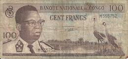 CONGO 100 FRANCS 1961 VG+ P 6 - Non Classés