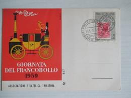Trieste 1959 / Giornata Del Francobollo - Borse E Saloni Del Collezionismo