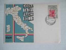 Rimini 1959 / Giornata Del Francobollo - Borse E Saloni Del Collezionismo