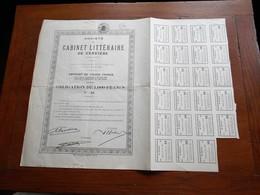 Cabinet Littéraire De Verviers 1937 Obligation De 1000 Francs.N°89 - Actions & Titres