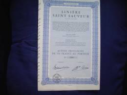 """Action""""Linière St Sauveur """" Gand Gent Textile Excellent état - Textile"""