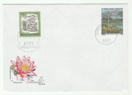 1988 AUSTRIA 4s50 Illus FLOWER UPRATED Postal STATIONERY COVER Stamps Flowers SONDERTARIF Pmk - Stamped Stationery