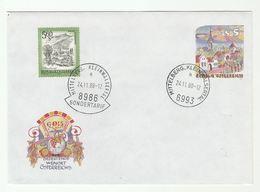 1988 AUSTRIA 5s Illus WINE JUG GRAPES  UPRATED Postal STATIONERY COVER Stamps SONDERTARIF Pmk Fruit  Alcohol - Stamped Stationery