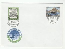 1988 AUSTRIA EUROPA WANDERPARK Illus  UPRATED Postal STATIONERY COVER Stamps SONDERTARIF Pmk - Stamped Stationery