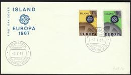 Island Reykjavik 1967 / Europa CEPT / FDC - Europa-CEPT