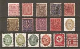 Allemagne Empire - 1920/38 - Service - Petit Lot De 16 Timbres MNH/NSG/O - Lots & Kiloware (mixtures) - Max. 999 Stamps