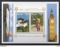 2006 - 50ème Anniv. CEPT  Bhutan  ** TTB - Idées Européennes