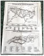 Carte Ancienne < THEATRE DE LA  GUERRE EN ESPAGNE + PLAN TERRITOIRE D'ALGER 1835 - Andere