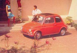 Fiat 500 Luxe  (1972)   -  Carte Postale - Turismo