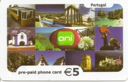 ONI Pre-paid Phone Card - Portugal - Portugal