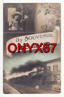 GAND-GENT (Belgique-Flandre-Orientale) Souvenir De Gand Fantaisie Jeune Fille Train Chemin De Fer Gare Bahnhof  2 SCANS- - Gent