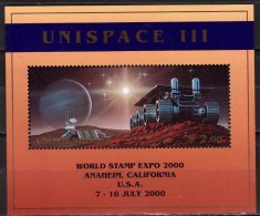 1999 UN New York - Conference Of UN Of Peacfull Use Of Space - UNISPACE III - MS - Mi B 16 - MNH** - Space