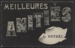 CPA - RETHEL - AMITIES DE ... FANTAISIE - Edition ? - Rethel
