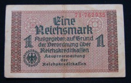 GERMANY 1 REICHSMARK ND 1939 SWASTIKA, VF. 2# IN SERIAL NUMBER. - 1933-1945: Drittes Reich