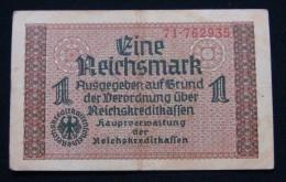 GERMANY 1 REICHSMARK ND 1939 SWASTIKA, VF. 2# IN SERIAL NUMBER. - [ 4] 1933-1945: Derde Rijk