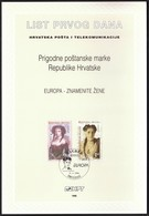 Croatia 1996 / Europa CEPT / Famous Women, Zuzoric, Mazuranic / First Day Sheet / ETB - Croatie