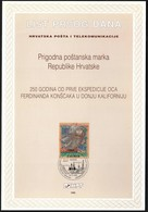 Croatia 1996 / 250 Years Since The First Expedition Of Ferdinand Konscak In Lower California / First Day Sheet / ETB - Croatie