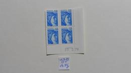 France :Coin Daté  Neuf :Sabine  N° 1975  Gomme Tropicale (GT) - 1970-1979