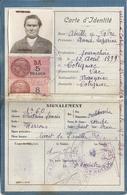 CARTE D'IDENTITE FRANCAISE -COTIGNAC  VAR 1939 - Maps