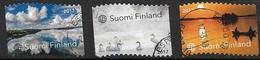 Finlande 2017 N°2462/2464 Oblitérés Paysages De La Nature - Finland