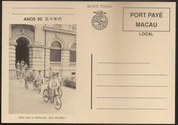 Portugal Macau China Chine - Inteiro Postal Stationery - Entier - Port Payé - 1950's Saída Para A Distribuição - Interi Postali