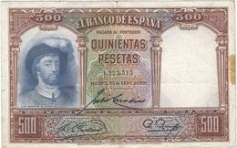 España - Spain 500 Pesetas 25-4-1931 Pick 84 Ref 1708 - [ 2] 1931-1936 : Republic