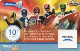TARJETA TELEFONICA DE ARGENTINA, PREPAGO. PER-0069Db, CINE - POWER RANGERS. (095) COLOR-GRAF - Cinema