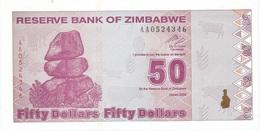 Zimbabue - Zimbabwe 50 Dollars 2009 Pick 96 Serie AA UNC - Zimbabwe