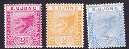 Malaysia-Negri Sembilan S.Ujong SG 50-52 1891 St, Mint Hinged - Negri Sembilan
