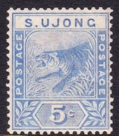 Malaysia-Negri Sembilan S.Ujong SG 52 1893 5c Blue, Mint Hinged - Negri Sembilan