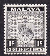 Malaysia-Negri Sembilan SG 21 1936 Arms, 1c Black, Mint Hinged - Negri Sembilan