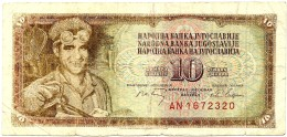 YUGOSLAVIA - 10 Dinara - 01/05/1968 - P 82.c - Sign. 7  - Used - Serie AN - 7 Digit Serial # With Security Thread - Yugoslavia