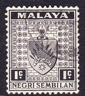 Malaysia-Negri Sembilan SG 21 1936 Arms, 1c Black, Used - Negri Sembilan