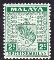 Malaysia-Negri Sembilan SG 22 1936 Arms, 2c Green, Mint Hinged - Negri Sembilan