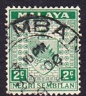 Malaysia-Negri Sembilan SG 22 1936 Arms, 2c Green, Used - Negri Sembilan