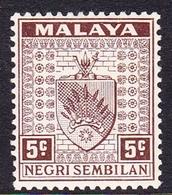 Malaysia-Negri Sembilan SG 26 1935 Arms, 5c Brown, Mint Hinged - Negri Sembilan