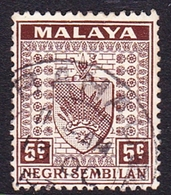 Malaysia-Negri Sembilan SG 26 1935 Arms, 5c Brown, Used - Negri Sembilan