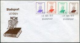 OWL Netherlands 1970 Leiden Stadspost FDC Local Private Post Bird Eule Hibou Privatpost Poste Privée Pays-Bas Nederland - Owls